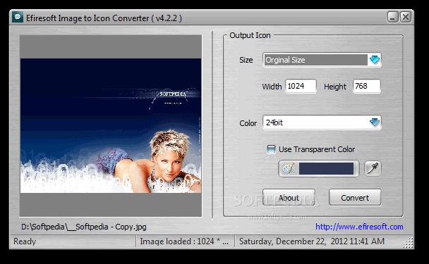 Phần mềm Efiresoft Image to Icon Converter