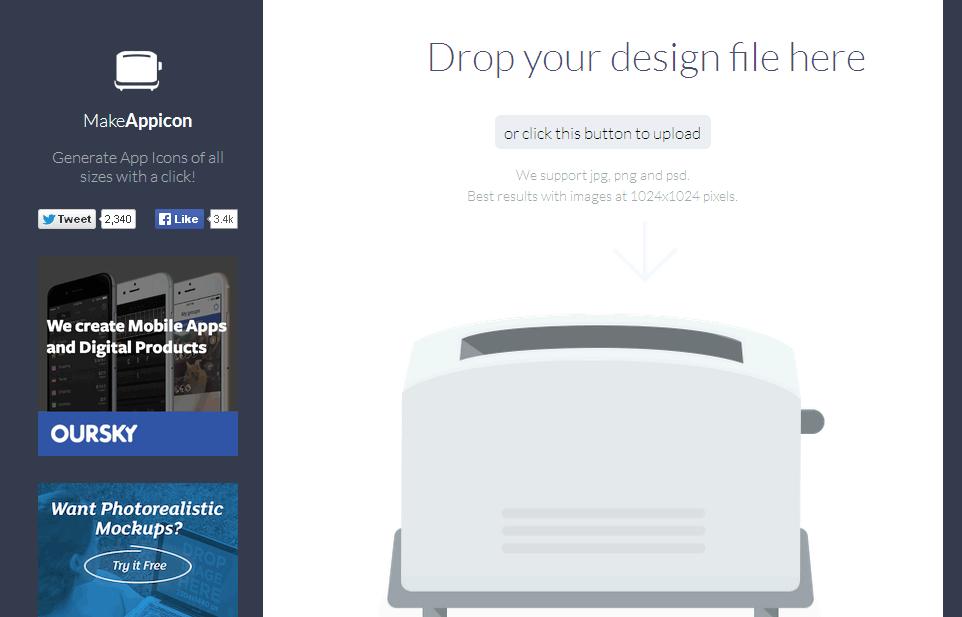 Trang web MakeAppicon