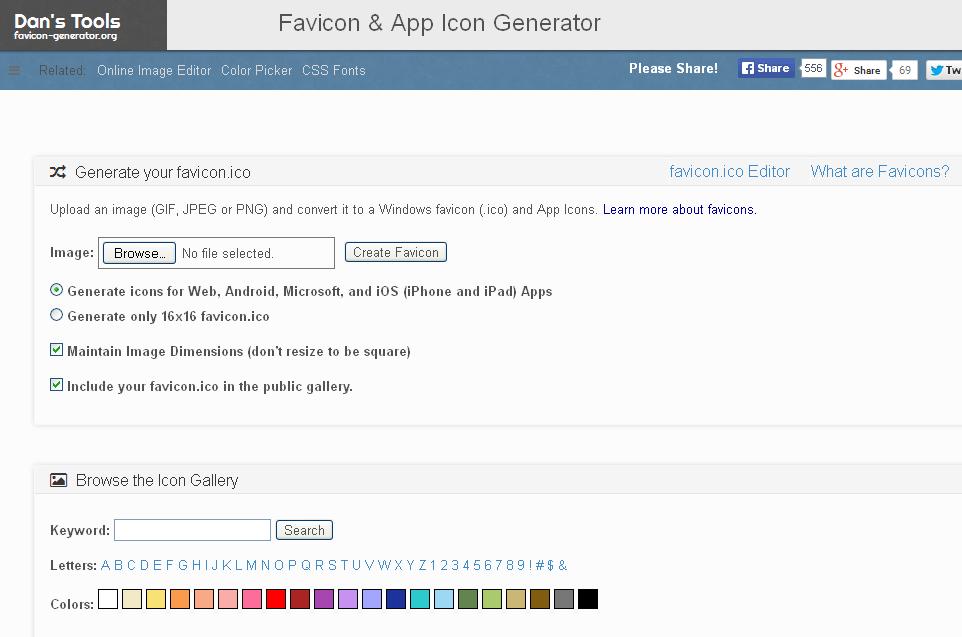 Trang web Favicon & App Icon Generator