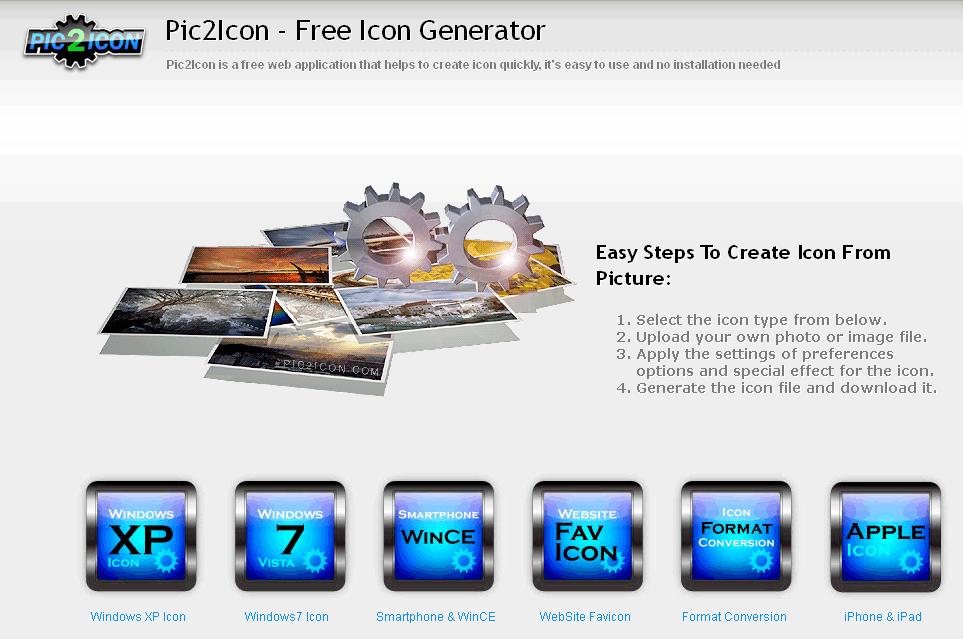 Trang web Pic2Icon