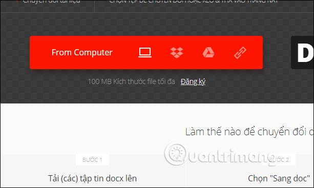 Hướng dẫn chuyển đổi file Docx sang Doc trực tuyến