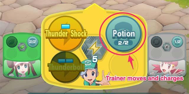 Trainer Di chuyển và tính phí, tương ứng với số lần sử dụng