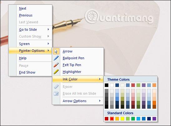 Chọn màu cho bút vẽ
