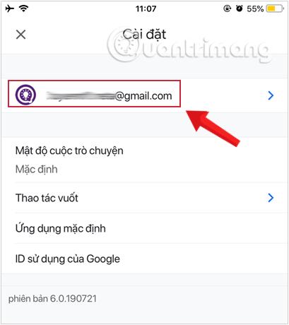 Lựa chọn tài khoản bạn muốn đổi mật khẩu