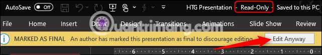 Cách khóa và mở khóa file Powerpoint để chỉnh sửa