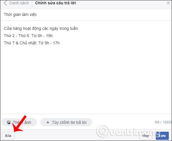 Hướng dẫn thiết lập tự động trả lời tin nhắn trên Fanpage Facebook - Ảnh minh hoạ 24
