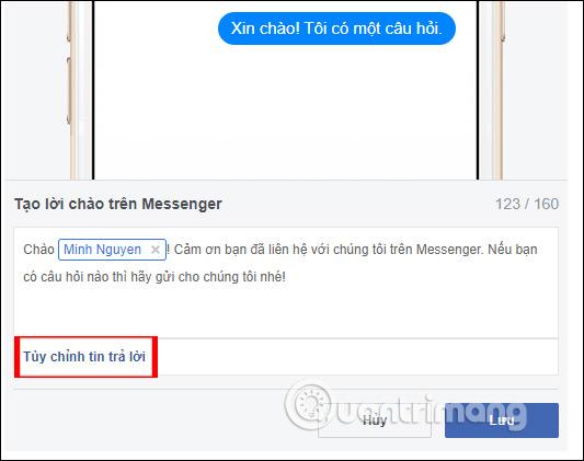 Hướng dẫn thiết lập tự động trả lời tin nhắn trên Fanpage Facebook - Ảnh minh hoạ 8