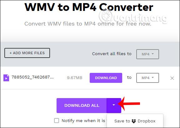 Video mp4 trên Wondershare WMV to MP4