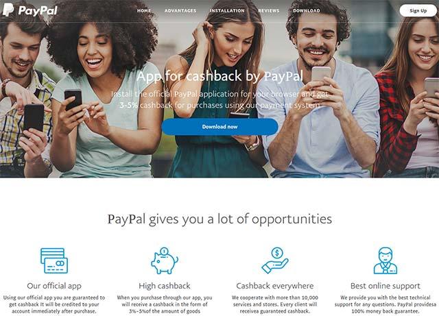 Trang web PayPal giả mạo thông rất giống thật