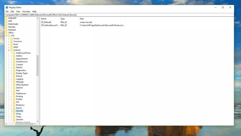 Xác định key registry