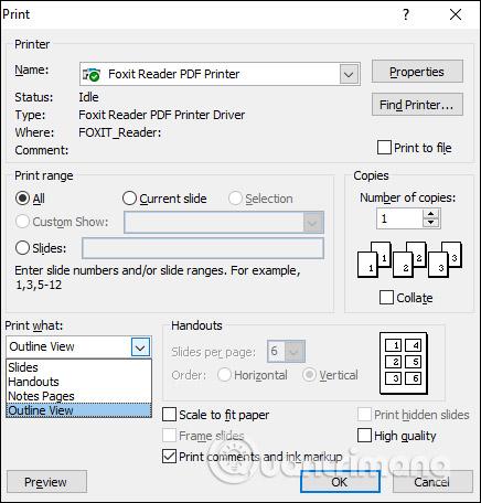 MS PowerPoint 2007 - Bài 11: In bản trình chiếu - Ảnh minh hoạ 15