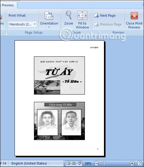 MS PowerPoint 2007 - Bài 11: In bản trình chiếu - Ảnh minh hoạ 3