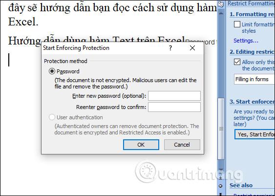 Cách để không cho người khác copy và chỉnh sửa file Word - Ảnh minh hoạ 11