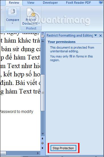 Cách để không cho người khác copy và chỉnh sửa file Word - Ảnh minh hoạ 13
