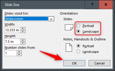 Cách thay đổi hướng slide theo chiều dọc trong PowerPoint - Ảnh minh hoạ 2