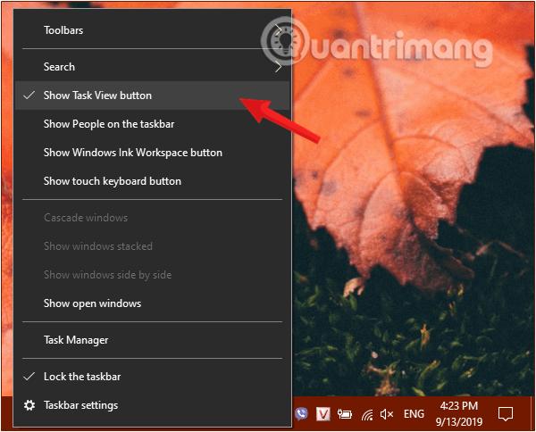 Gỡ bỏ nút Task View trên thanh Taskbar
