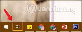 Nút Task View trên thanh Taskbar