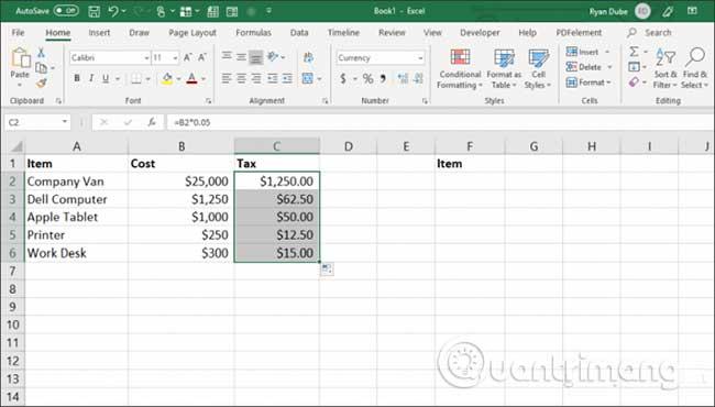 23 cách sử dụng tính năng Paste trong Excel - Ảnh minh hoạ 16