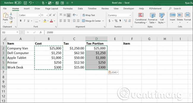 23 cách sử dụng tính năng Paste trong Excel - Ảnh minh hoạ 25
