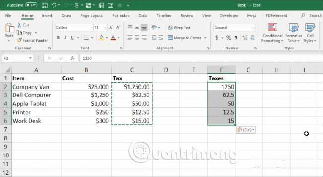 23 cách sử dụng tính năng Paste trong Excel - Ảnh minh hoạ 7