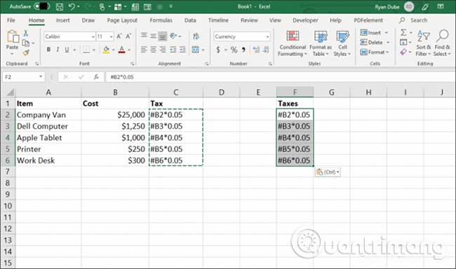 23 cách sử dụng tính năng Paste trong Excel - Ảnh minh hoạ 9