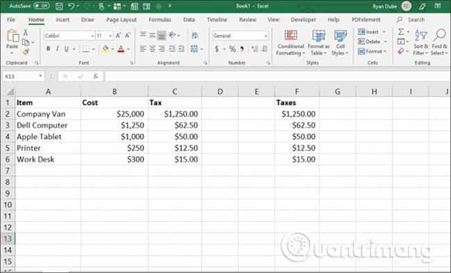 23 cách sử dụng tính năng Paste trong Excel - Ảnh minh hoạ 12
