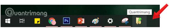 Thư mục được ghim vào thanh Taskbar