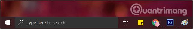 Khung Search trên thanh Taskbar