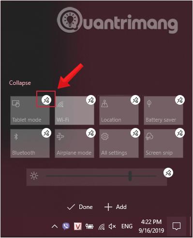 Ấn vào biểu tượng bỏ ghim để ẩn ứng dụng trên thanh Taskbar