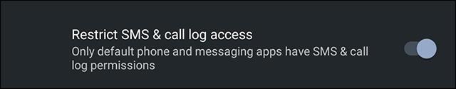 Hạn chế truy cập nhật ký cuộc gọi, tin nhắn