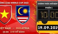 Hướng dẫn mua vé trận Việt Nam vs Malaysia vòng loại World Cup 2022