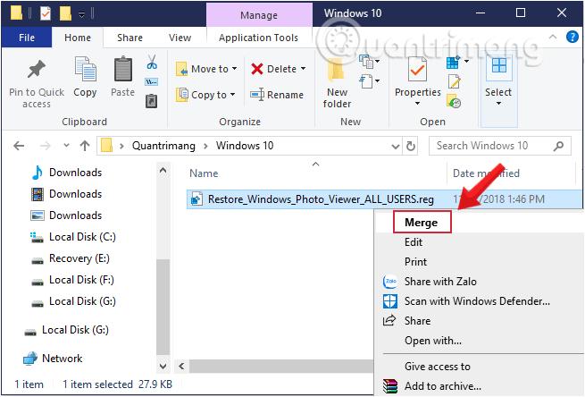 Xem ảnh bằng Windows Photos Viewer trên Windows 10