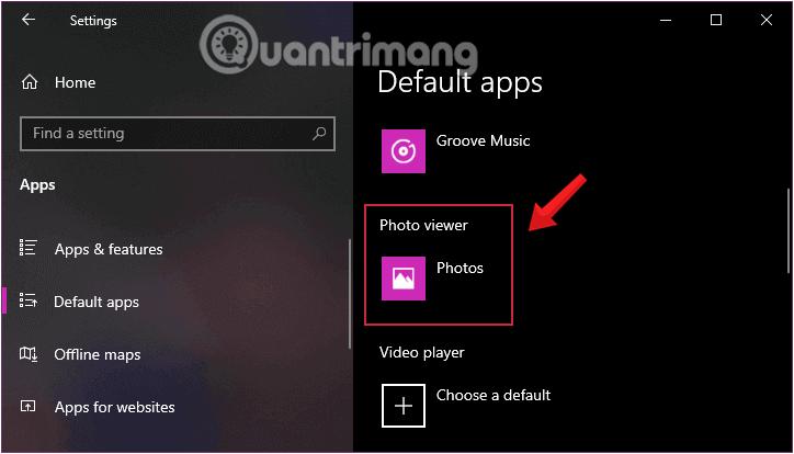 Chọn Windows Photo Viewer là ứng dụng xem ảnh mặc định