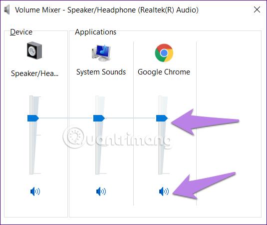 Đảm bảo Chrome không bị tắt tiếng