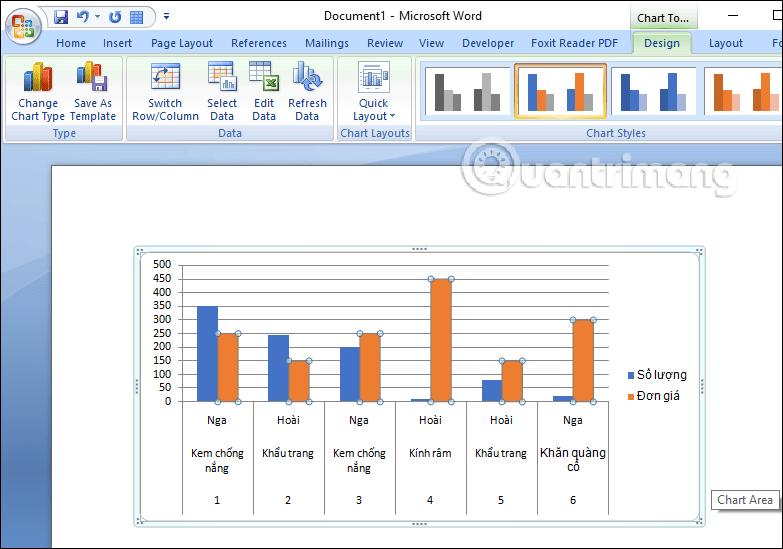 Hướng dẫn sao chép biểu đồ Excel sang Word - Ảnh minh hoạ 3