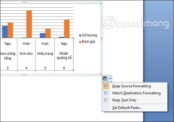 Hướng dẫn sao chép biểu đồ Excel sang Word - Ảnh minh hoạ 5