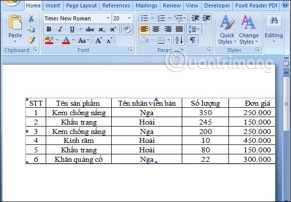 Làm thế nào để sao chép dữ liệu từ Excel sang Word? - Ảnh minh hoạ 4