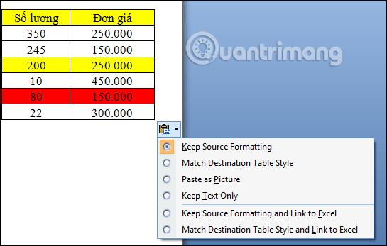 Làm thế nào để sao chép dữ liệu từ Excel sang Word? - Ảnh minh hoạ 6
