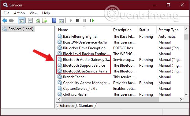 Tìm những mục bắt đầu bằng Bluetooth