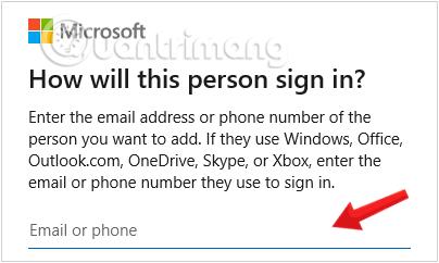 Hộp thoại Sign xuất hiện khi click tạo user mới trên windows