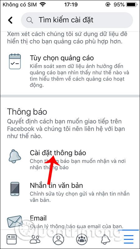 Cách bật, tắt thông báo Facebook chung trên điện thoại - Ảnh minh hoạ 3