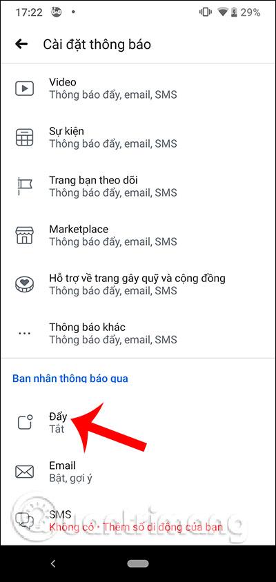 Cách bật, tắt thông báo Facebook chung trên điện thoại - Ảnh minh hoạ 6