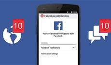 Cách bật, tắt thông báo Facebook chung trên điện thoại
