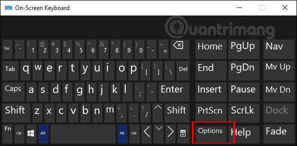 Nhấn nút Options