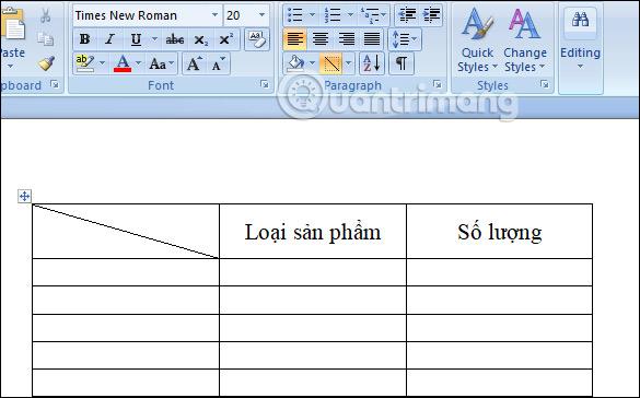 Cách tạo đường kẻ chéo trong bảng Word - Ảnh minh hoạ 3