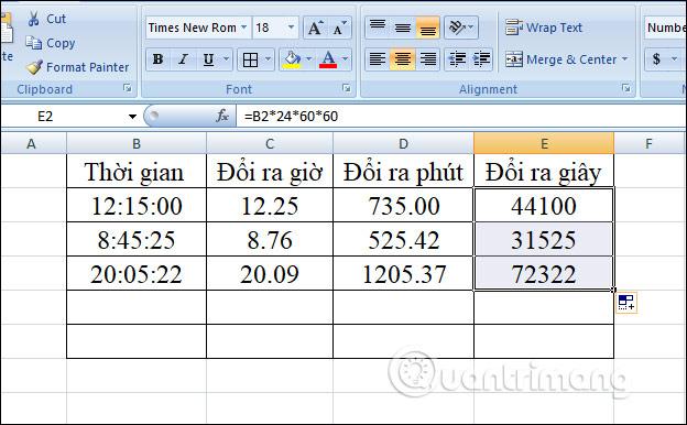 Cách chuyển đổi thời gian trong Excel - Ảnh minh hoạ 10