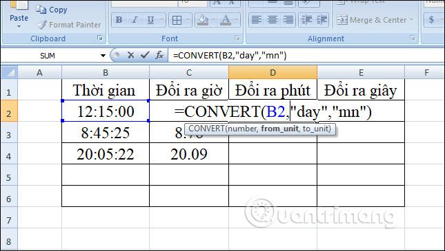 Cách chuyển đổi thời gian trong Excel - Ảnh minh hoạ 13