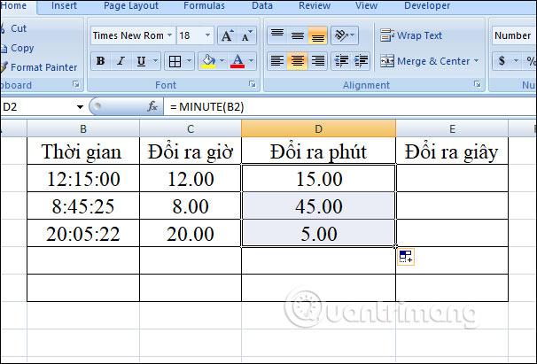 Cách chuyển đổi thời gian trong Excel - Ảnh minh hoạ 16