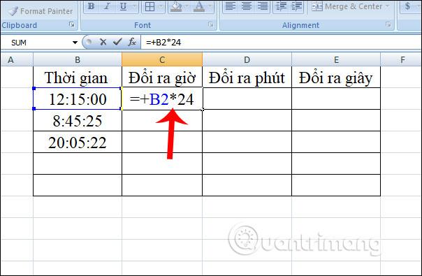 Cách chuyển đổi thời gian trong Excel - Ảnh minh hoạ 2