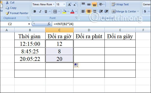 Cách chuyển đổi thời gian trong Excel - Ảnh minh hoạ 6